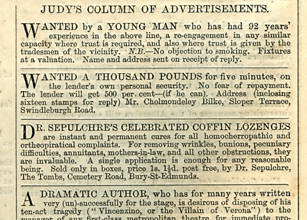 Judy, or The London Serio-Comic Journal. Victorian humour. Ally Sloper.