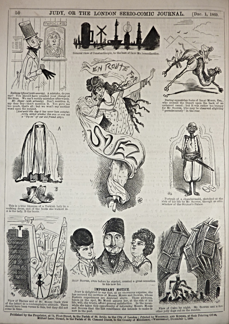 ally sloper - en route to suez - judy or the london serio-comic journal