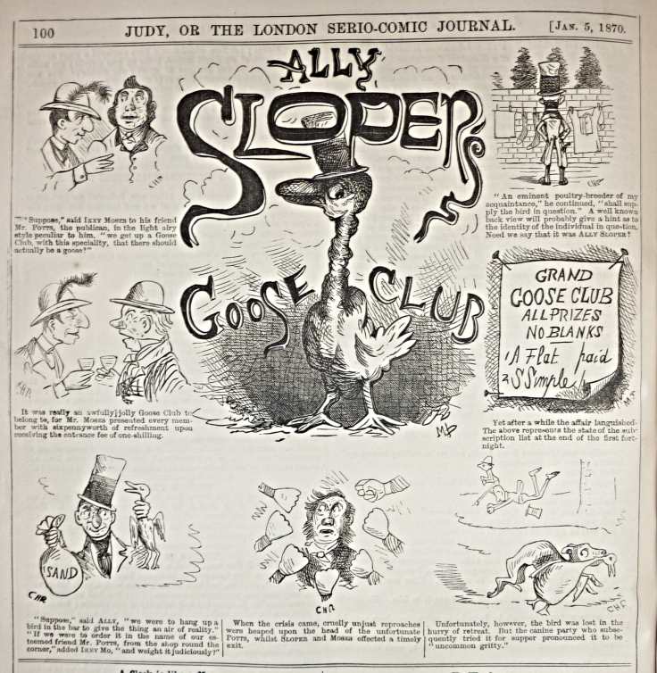 judy or the london serio comic journal - 1870 - ally slopers goose club