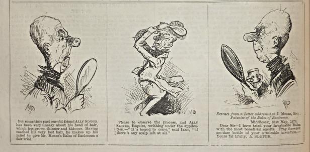 1870-06-01 iky mo's cure for baldness - ally sloper - judy