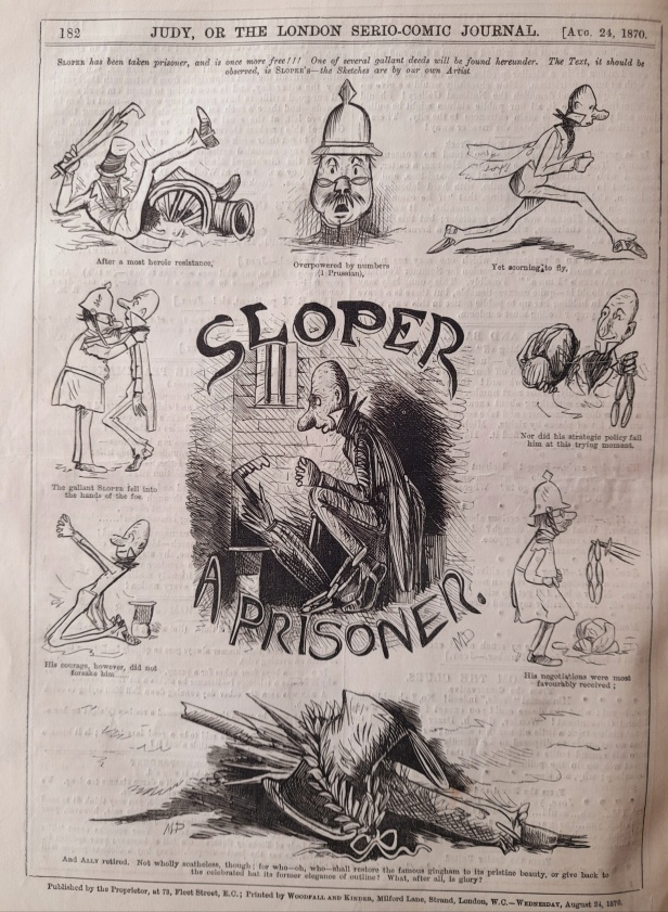24 august 1870 - ally sloper a prisoner - judy or the london serio comic journal