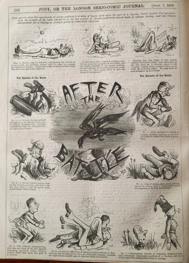 07 september 1870 - ally sloper after the battle - judy or the london serio comic journal