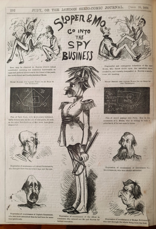 28 september 1870 - ally sloper and mo go into the spy business - judy or the london serio comic journal